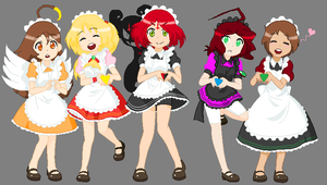 Maidens and Pocket Watch of Blood. (Birthday Gift) by Music-Lovette123