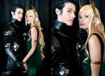 Loki and Sigyn - Punishment by Aicosu