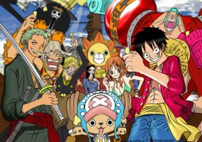 One Piece Coloring by lazyaznkid