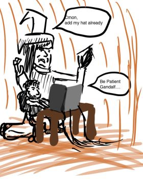Gandalf and the Coding Hobbit by AndThreeForTheWin