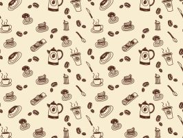 Coffeehouse wallpaper by Shi-Cake