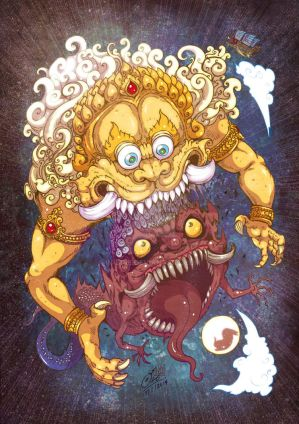 MahaKala eat rahu demon
