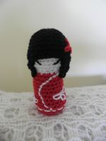 Japanese kokeshi doll by moominbadger