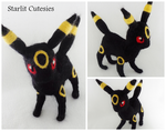 Needle Felted Umbreon Plush! by Charlottejks