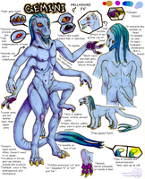 Gemini - ref sheet by uropygid
