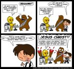 Wookies and Droids by kevinbolk