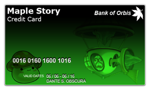 Maple Story Credit Card by Dante016