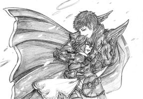 CL : The knight and the lady by JBeanSV