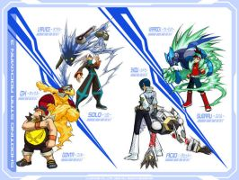 MegaMan Starforce3 - The Guys by SanguineDemon