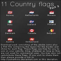 Resource- Country Flags Part 2 by Pokehkins