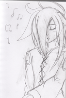 Sketch: Angelus Singing by BlueRoseAngel15