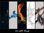 10 c4D's Pack by Piechi