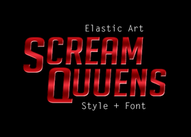 Scream Queens Style + Font by ElasticArt