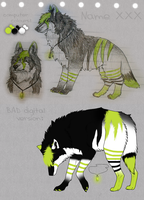 Neon wolf for adoption by mydoggies
