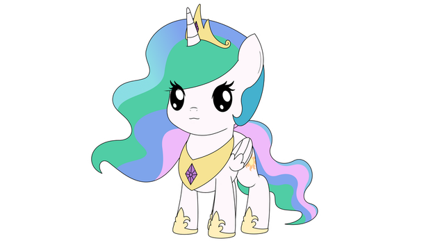 Chibi Princess Celestia by ArdonSword