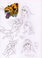 Tarzan Doodles (and one Sabor) by TheAbbeyRoadie