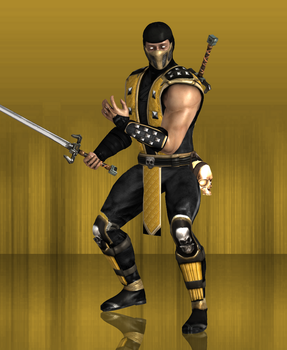 MKX Retexture: Shaolin Monks Scorpion by TheG-Flash