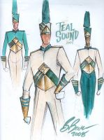 Teal Sound Sketches 9 by Becorps