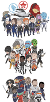 mass effect character stickers by edface