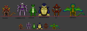 Kaiju Combat Monsters 12 by CosbyDaf