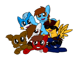 .:FanArt:. Team Crafted is Here! (T-Shirt Print) by SuperRedBird61