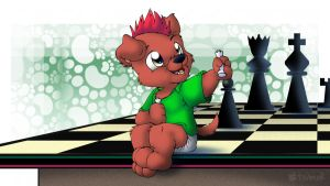 Pup of Chess by Tavi-Munk