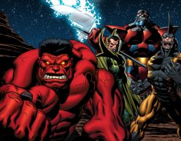 Red Hulk and pals by GURU-eFX