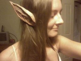 Paper mache elf ears by Jess-Bot