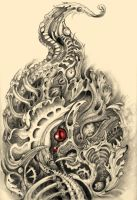 BioMechanical Rooster Tat2 by simonjova