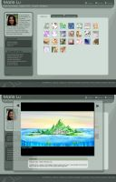 dA Portfolio Mock Template by mree