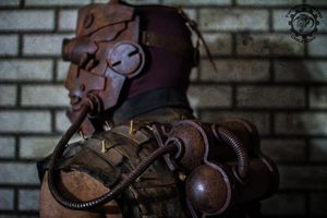The Operator - lightup Wasteland mask w/ back tank by TwoHornsUnited