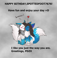 For SpottedFoot7676 by PhantomDragonZX