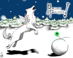 holiday : winter, okami by kumquatgirl