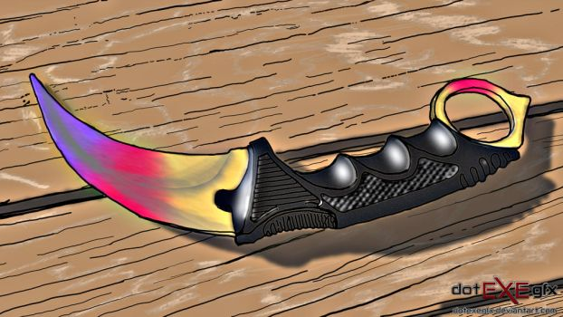 Counter Strike: Global Offensive karambit ReDrawn by dotEXEgfx