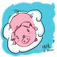 Drawing for my friend - Oink the pig by TiRiSh