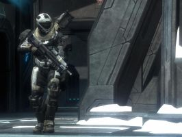 Halo Reach: Walking In Ice by purpledragon104