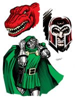 Doom and Friends by LostonWallace