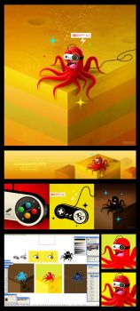 Monsters plays Nintendo by dimpoart