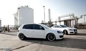 white duo Golf 5 GTD  Audi A5 by bekwa