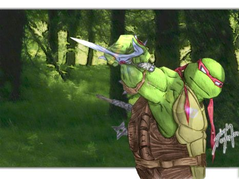 Raphael in the woods by FireDolphin