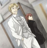 Baccano: Ladd and Vino by Angels-Leaf