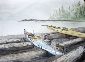Quatsino Sound Kayak by bluecnidaria