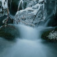 Litle winter waterfall by Floriandra