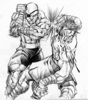 Thai Boxing With Sagat by BiggCaZ