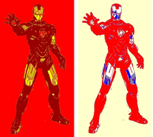 Iron Man 2 Panel Pop Art by TheGreatDevin