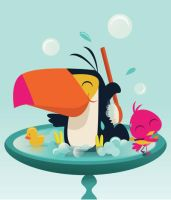 Toucan In The Tub by DavidMansch