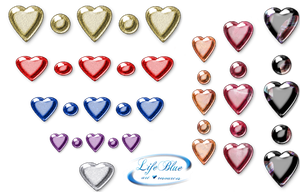 Saint Valentine's Day - Hearts PNG by lifeblue