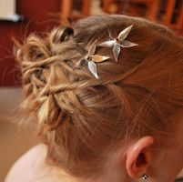 Flower Hair Pins by Adornments
