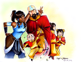 Legend of the Ridiculous Airbending Family by fluffy-fuzzy-ears