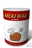 Meatwad in a Can by custom3dgraphics
